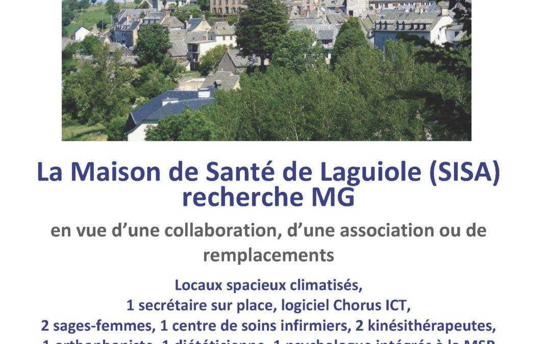 La Maison de Santé Aubrac-Laguiole recherche un médecin !