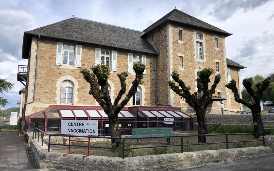 Le centre de vaccination d'Espalion
